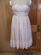 NWT H&M Conscious Collection Ivory Strapless Dress Beaded Cocktail Wedding Sz 4