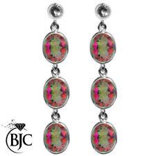 Orecchini di lusso con gemme multicolore naturale topazio