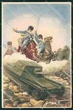 Militari Reggimentale Cavalleria Guide Monzambano 1934 PIEGATA cartolina XF6828