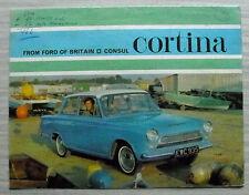 FORD CONSUL CORTINA Car Sales Brochure 1964 #H4553/10/63