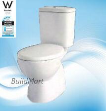 Sale Full ceramic close coupled toilet suite S trap free soft close seat