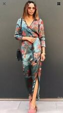 ZARA PRINTED KIMONO DRESS SKY BLUE size SMALL_ !!!! NEW !!! BLOGGERS