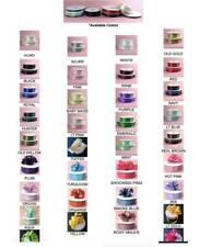 Double Faced Satin Ribbon, Ultra Low Price 10 Yards Multiple Color & Size Diy