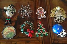 Rare! Vintage Lot Christmas Brooches Pins Lotto Spille di Natale (lot 16)