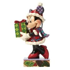 Disney Showcase Christmas Minnie Mouse A Holiday Gift For You Figurine