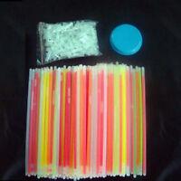 (10~300)Pcs Glow Sticks Bracelets Necklaces Neon Colours Party Favors Rave Disco