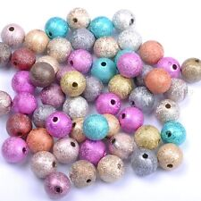 Mixed color Stardust Acrylic Round Ball Charms Spacer Beads DIY 4MM 6MM 8MM 10MM