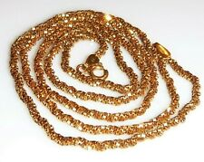 """Estate,6.13g,Solid 18k Gold diamond cut chain,3 chain twisted,20"""",2mm,Italy"""