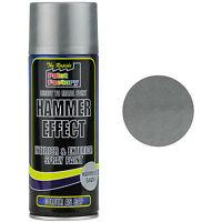 1 x Silver Hammer Effect Spray Paint 400ml Can Interior Exterior Metal Rust