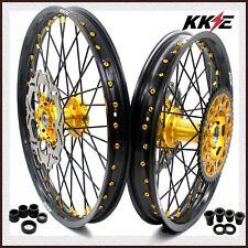 KKE 21/18 Enduro Wheels Rims Set For SUZUKI RM125 2001-2007 RM250 2001-2008 Disc