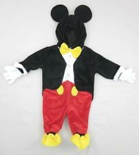 Disney Baby Mickey Mouse Costume Mouse Ears Hood Infant Size 9 Months MINT!