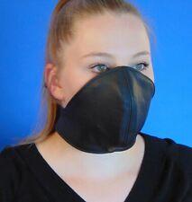 Rinds Leder Mund Bedeckung Wind-Schutz Gesichtsmaske Steampunk Biker Maske *B*