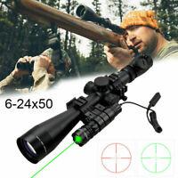 Leuchtpunktvisier Zielfernrohr 6-24x50mm mit Rot/Grün für Luftgewehr Armbrust