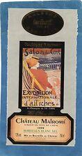 ETIQUETTE CHATEAU MALROME SALON DES CENT EXPOSITION D' AFFICHES §12/03/17§