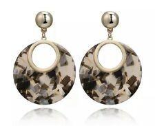 Multi Brown Round Earrings Acrylic Kendra + Chloe Design By Isabel j Scott