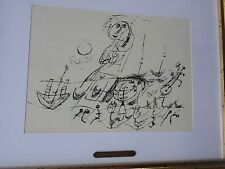 Guillaume Corneille- lithographie/estampe-Cobra-composition-cadre