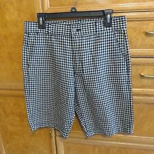 Men's 7 for All Mankind linen cotton plaid shorts size 30 brand new NWT $128