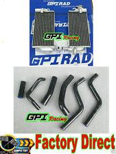 aluminum  radiator + BLK hose FORHonda CR250R/CR 250 R 2-stroke 1988 1989