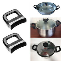 2 x Bakelite Metal Pressure Pan Cooker Steamer Sauce Pot Replacement Side Handle