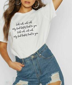 Ed Sheeran T-Shirt Bad Habits Fashion 2021 Tour Music Lyrics