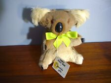 8.5� Real Kangaroo Fur Koala teddy Bear Plush Doll Nwt Matilda Australia