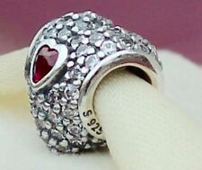 Genuine Pandora Ruby In My Heart Red Cubic Zirconia Charm 791168SRU