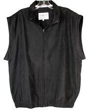 Proquip Medium Water Resistant Lightweight Black Zip Front Vest- Missing Sleeves