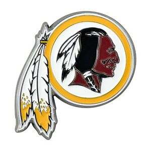Fanmats NFL Washington Redskins Diecast 3D Color Emblem Car Truck RV 2-4 Day Del
