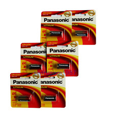 Fresh expire 2025 ****  PANASONIC PHOTO LITHIUM CR123a 3V BATTERIES (6 count)