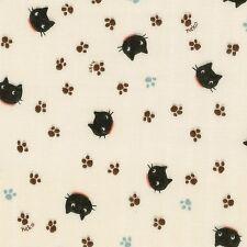 Little Things Kitties Cats Neko Double Gauze By The Yard Fabric Cosmo