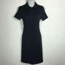 THOMAS PINK Women's Black Collared Midi Pencil Dress Size XS 6 UK VGC