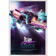 Hot Ready Player One 2018 Back To The Future Movie Film Silk Poster New 007
