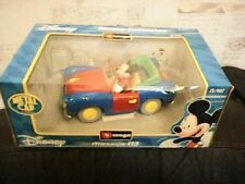BURAGO DISNEY COLLECTION MICKEY MOUSE 113 DIECAST METAL CAR LARGE BOXD MINT RARE
