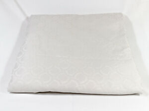"""Hotel Collection Duvet Cover Full/Queen 94""""x88"""" Ivory Geometric Sateen EUC"""