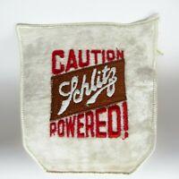"""Vintage Patch - Schlitz Beer - Caution Schlitz Powered! - Large Embroidered - 5"""""""