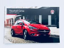 Vauxhall Corsa Owners handbook Manual Corsa E Latest Shape From 2015