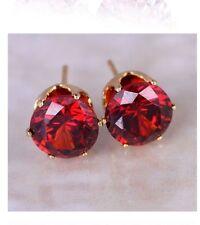 Orecchini piccoli rosso Hot Stile Gioielli Classico Dichiarazione ZIRCONI