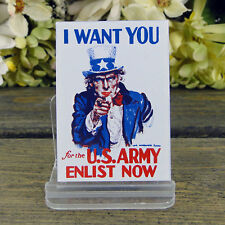 Ande Rooney Enamel Kitchen Magnet Want You for the US Army Enlist Now Uncle Sam