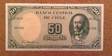 Billete De Chile. 50 Centavos/50 Pesos. fechado 1960/61