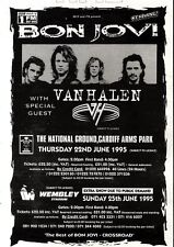11/3/95PGN64 BON JOVI & VAN HALEN LIVE TOUR DATES ADVERT 7X5""