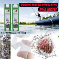 5m 25/38mm Bobing Water Soluble Dissolving PVA Mesh for Carp Bait Boilies  √ !*