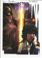 Doctor Who Official 'THE MASQUE OF MANDAGORA' A4 Art Print - Signed by Tom Baker