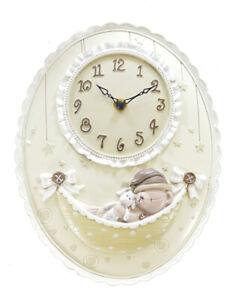 Baby Oval Nursury Wall Clock - W9854