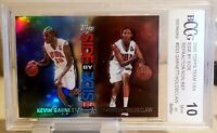2000 Topps Team USA Side by Side Kevin Garnett Holdsclaw Refractor SS3 BCCG 10