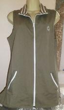 Zip Cotton V Neck Waistcoats for Women