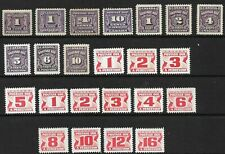 CANADA - x24 Postage Dues 1906-78 *MINT HINGED*