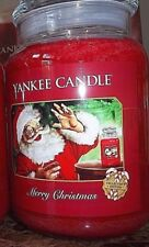 Yankee Candle Merry Christmas 22 oz Collector Edition.  NEW 1 SINGLE. FREE SHIP