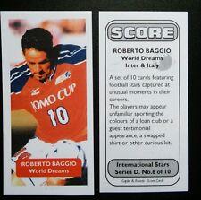 ITALY - INTER MILAN - WORLD DREAMS- ROBERTO BAGGIO Score UK football trade card