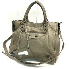 AUTHENTIC BALENCIAGA Classic Velo Tote Bag Dark Beige Leather 235216
