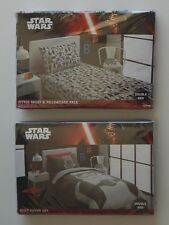 NEW Star Wars Double Bed Quilt Doona Duvet Cover POWER Set + Fitted Sheet Set